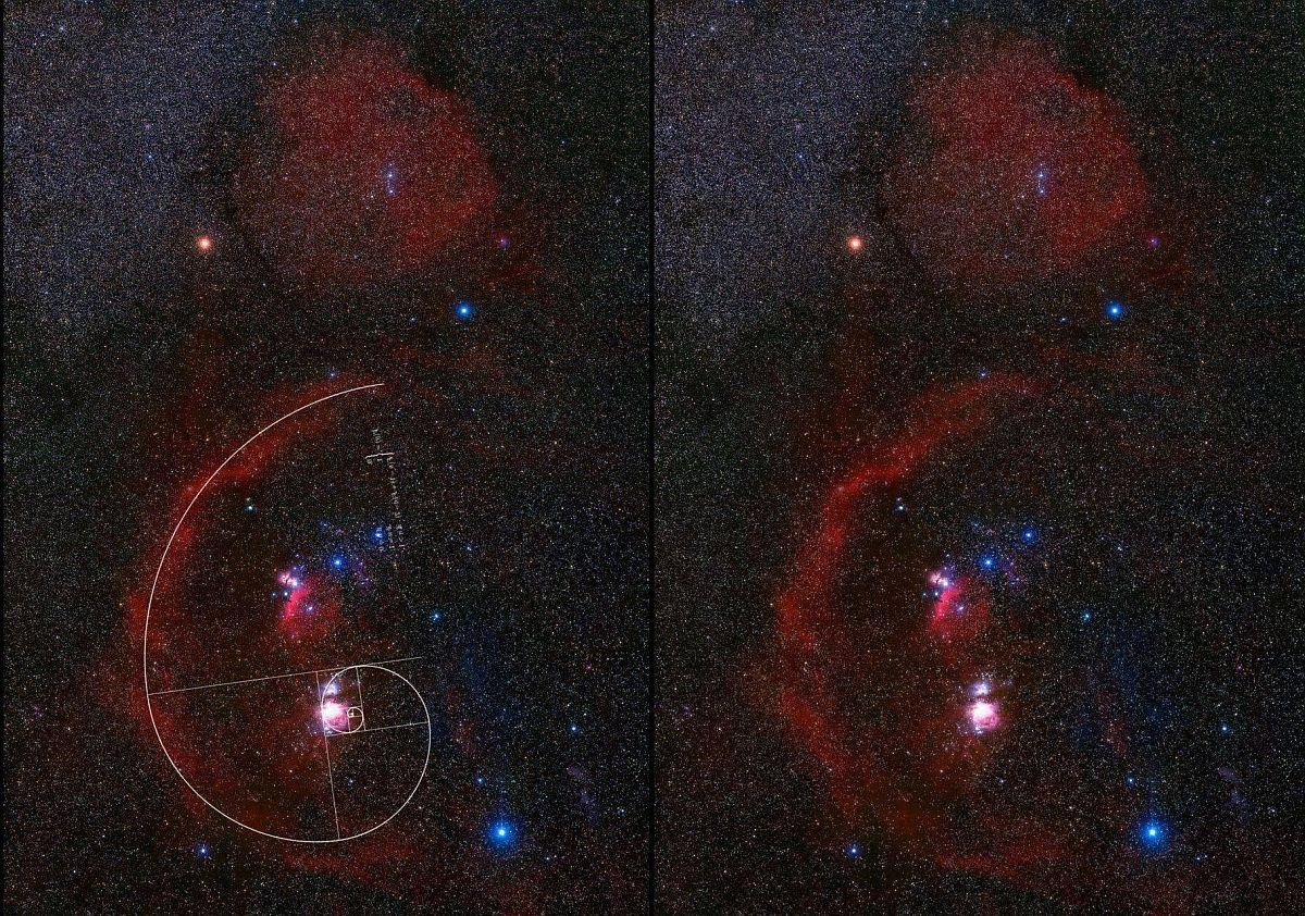 Orion nebula Nimród csillagképének tarsolya